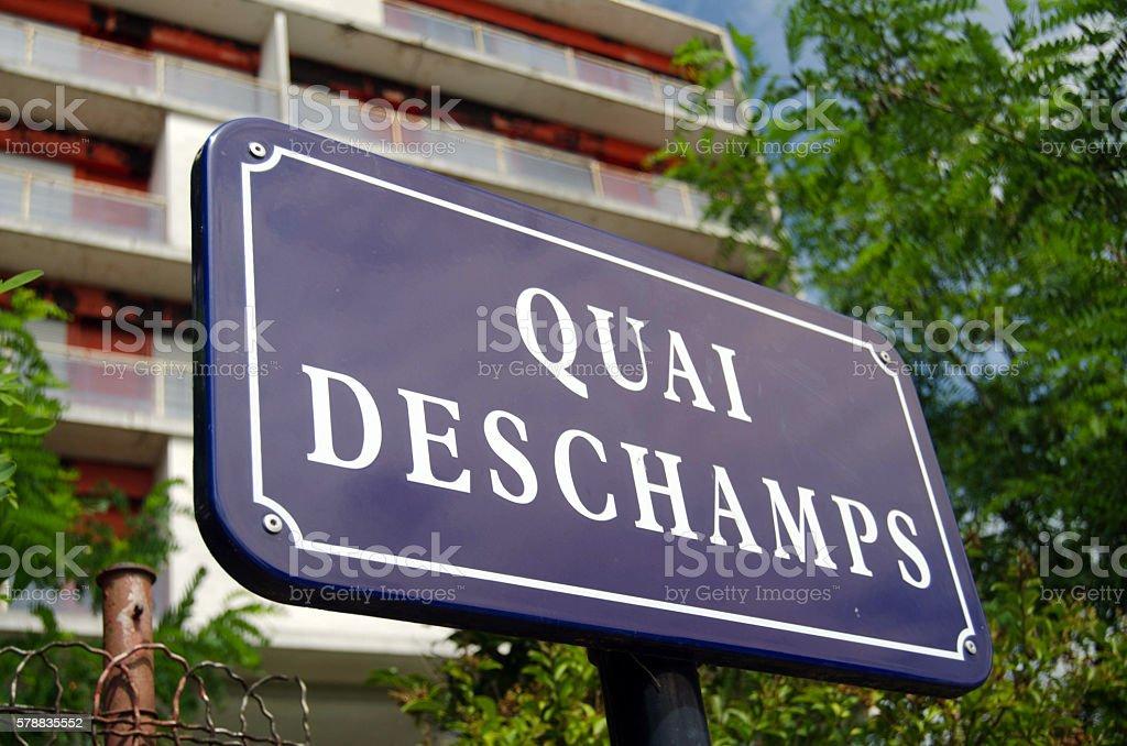 Quai Deschamps stock photo
