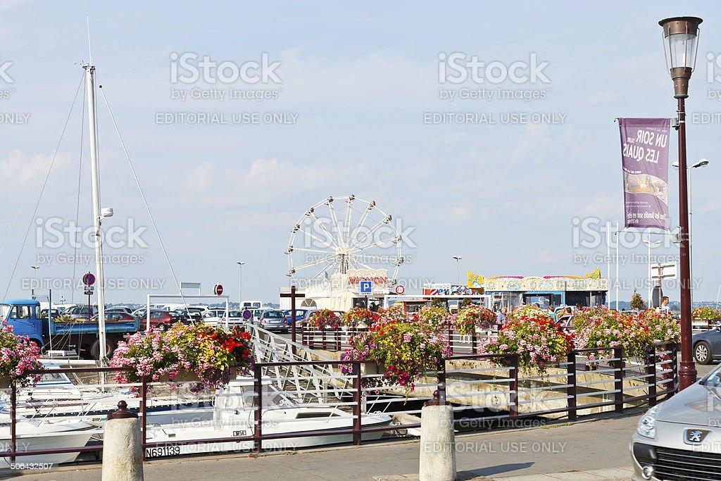 Quai du Port Ciguet in Le Croisic town, France stock photo