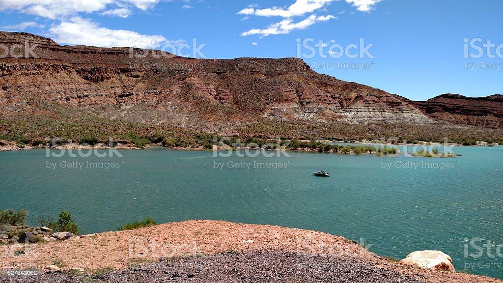 Quail Creek Reservoir State Park Hurricane Utah stock photo