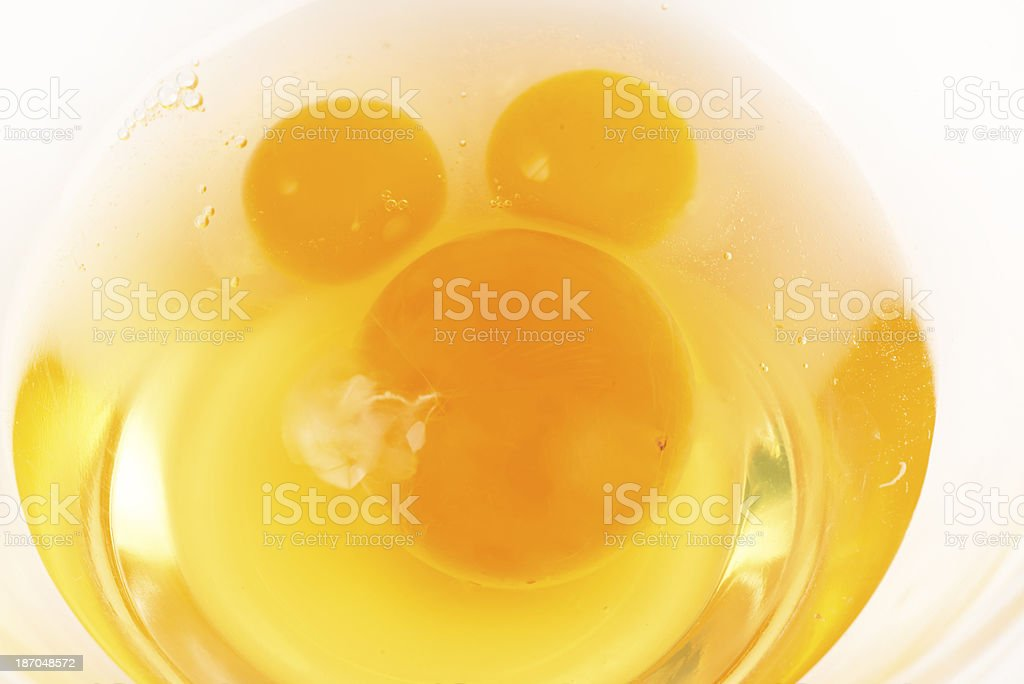 Quail eggs and chicken egg royalty-free stock photo