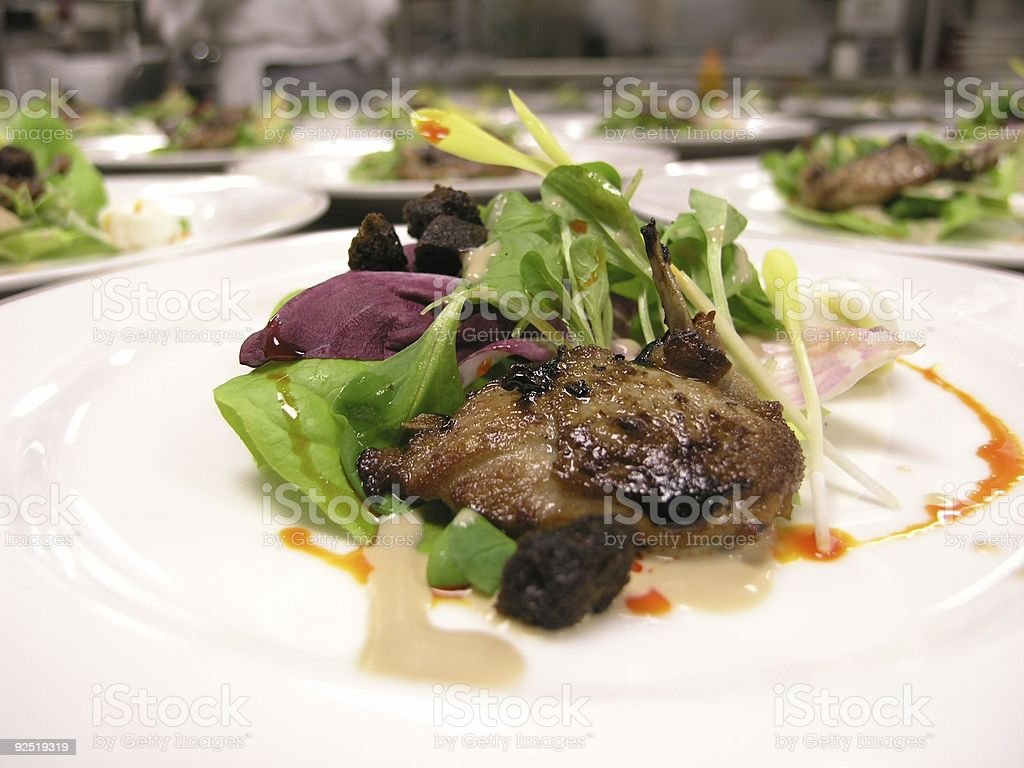 Quail Salad royalty-free stock photo
