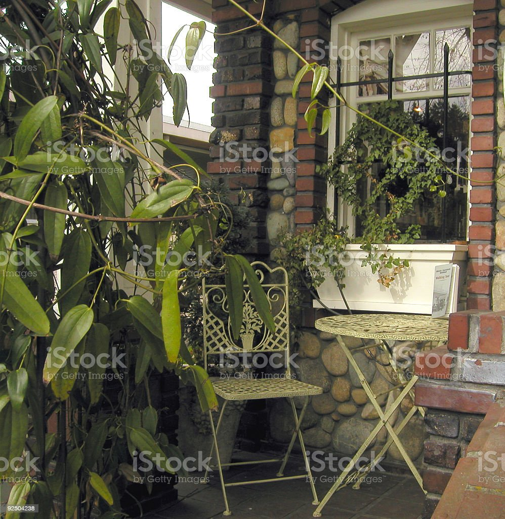 Quaint Front Porch royalty-free stock photo