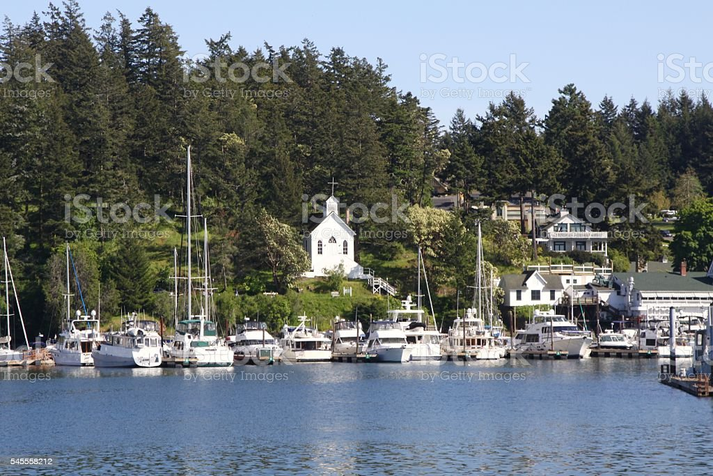 Quaint Little Seaport Of Roche Harbor Washington stock photo