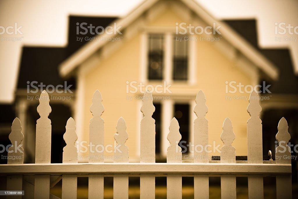 Quaint sepia-toned house royalty-free stock photo