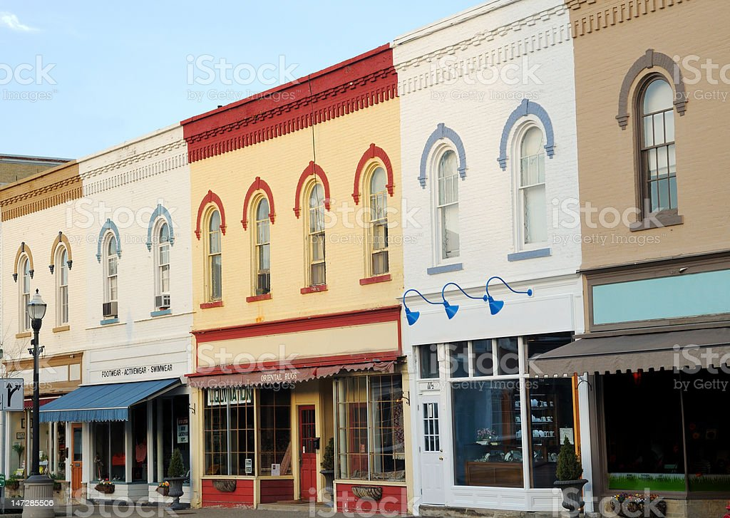 Quaint street scene stock photo