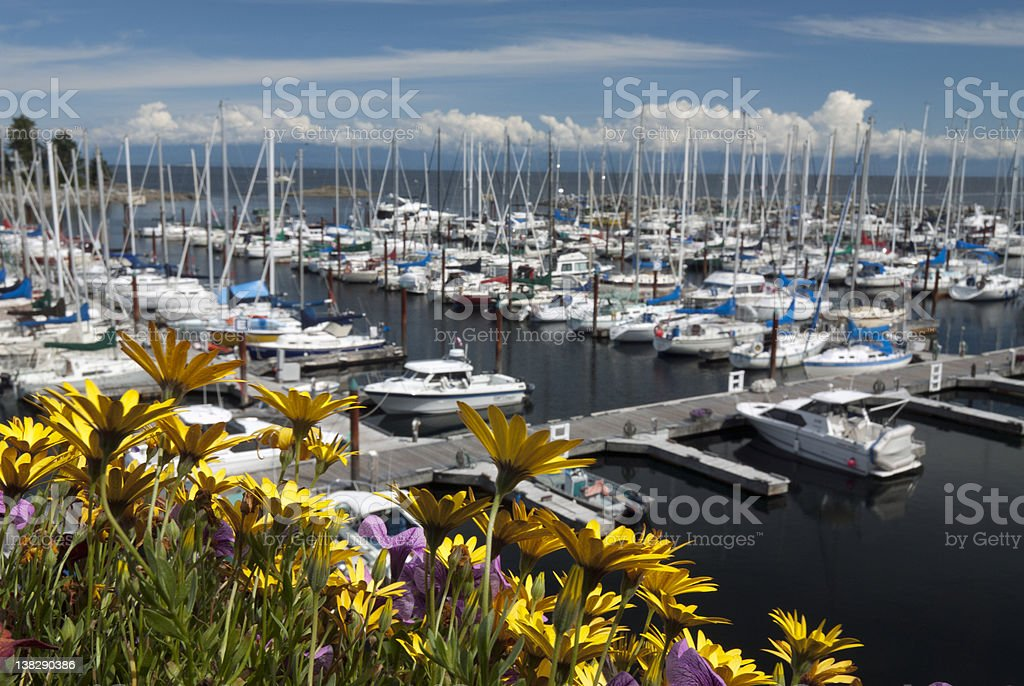 Qualicum Beach and marina stock photo