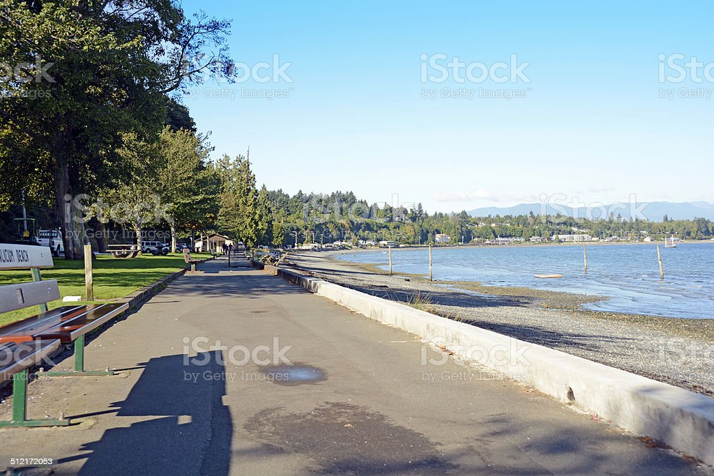 Qualicum Beach Boardwalk stock photo
