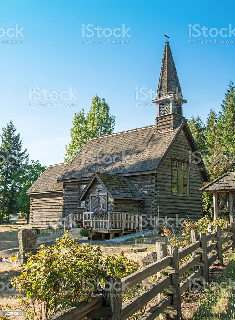 Qualicum Beach Saint Anne's Church stock photo