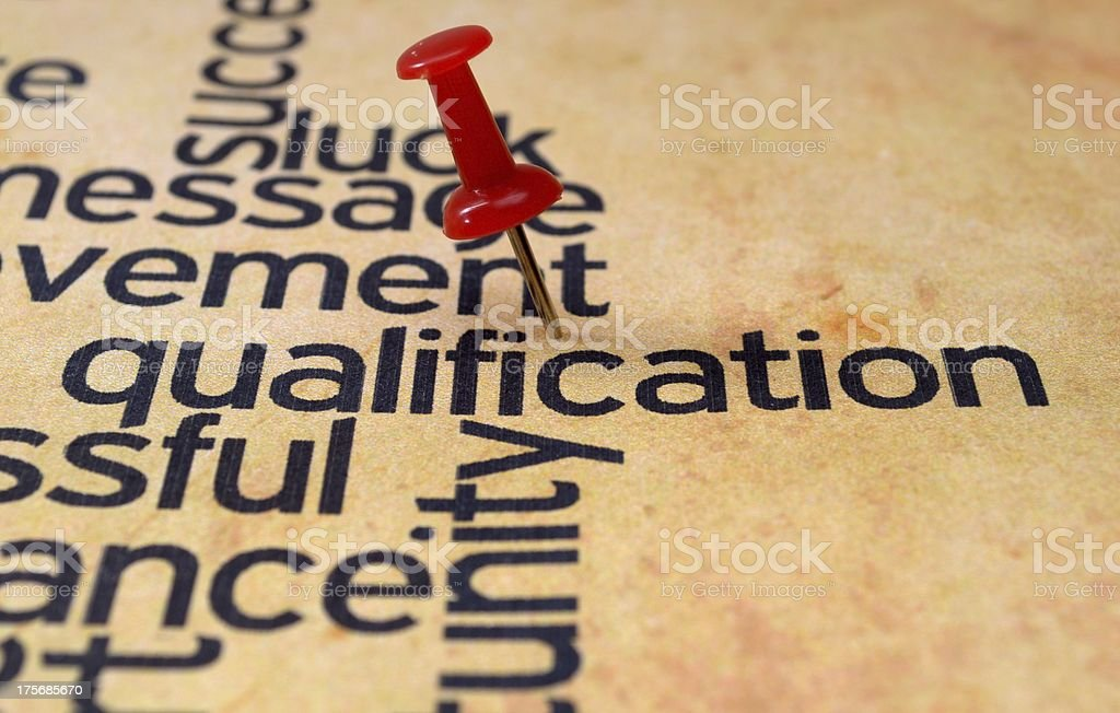Qualification concept royalty-free stock photo