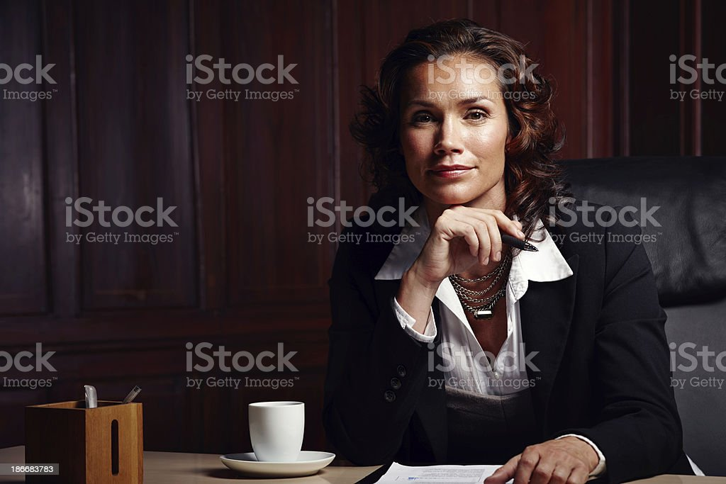 Qualified to give expert advice royalty-free stock photo