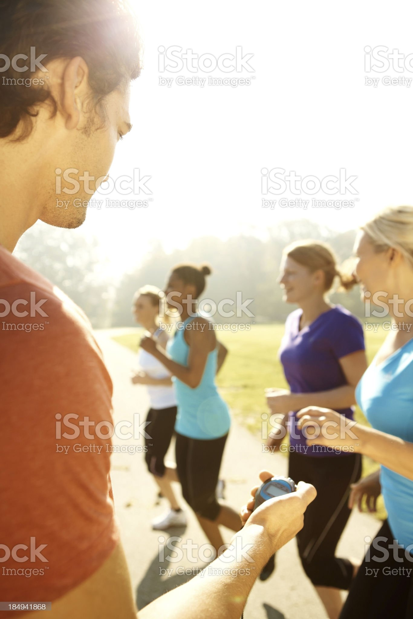 Qualifying for a healthy lifestyle royalty-free stock photo