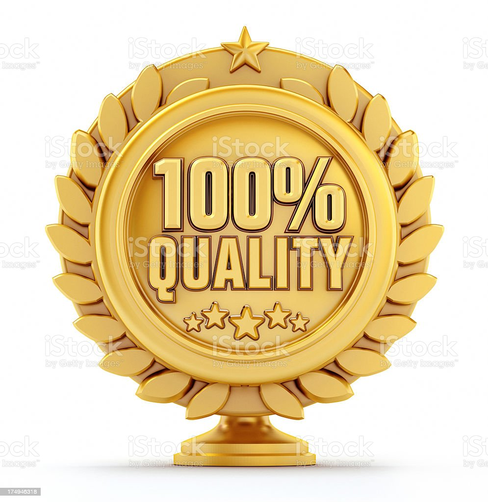 Quality badge royalty-free stock photo