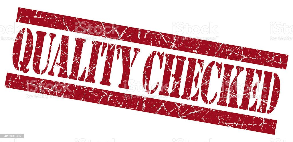 Quality Checked grunge red stamp royalty-free stock photo