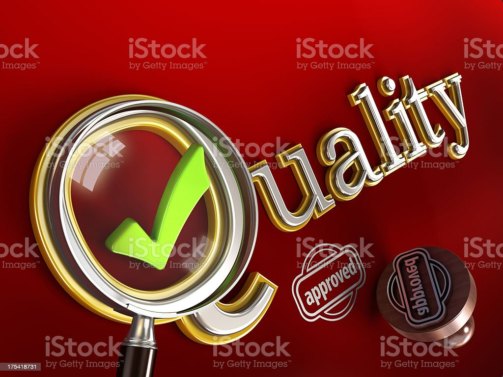 Quality concept royalty-free stock photo