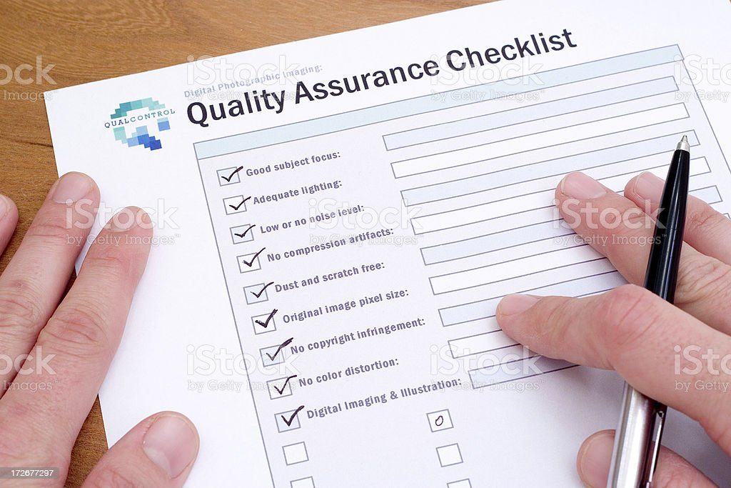 Quality Control [500,000th iStock Upload!] royalty-free stock photo