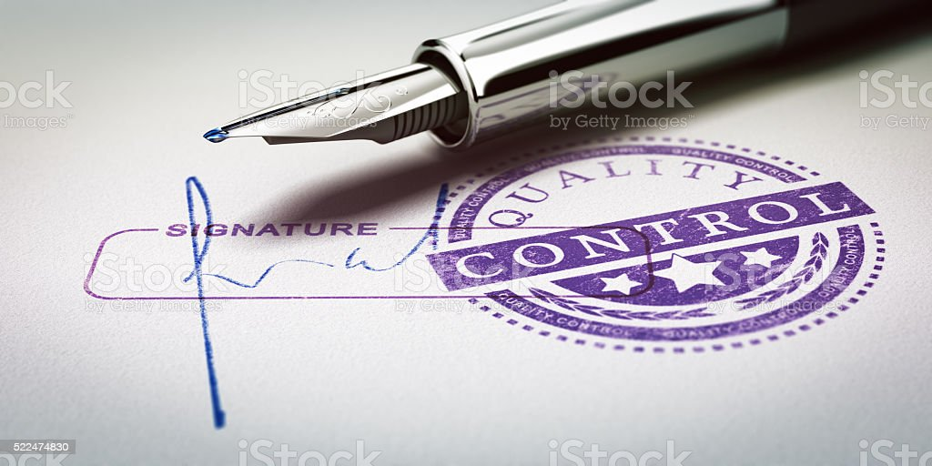 Quality Control Approved stock photo