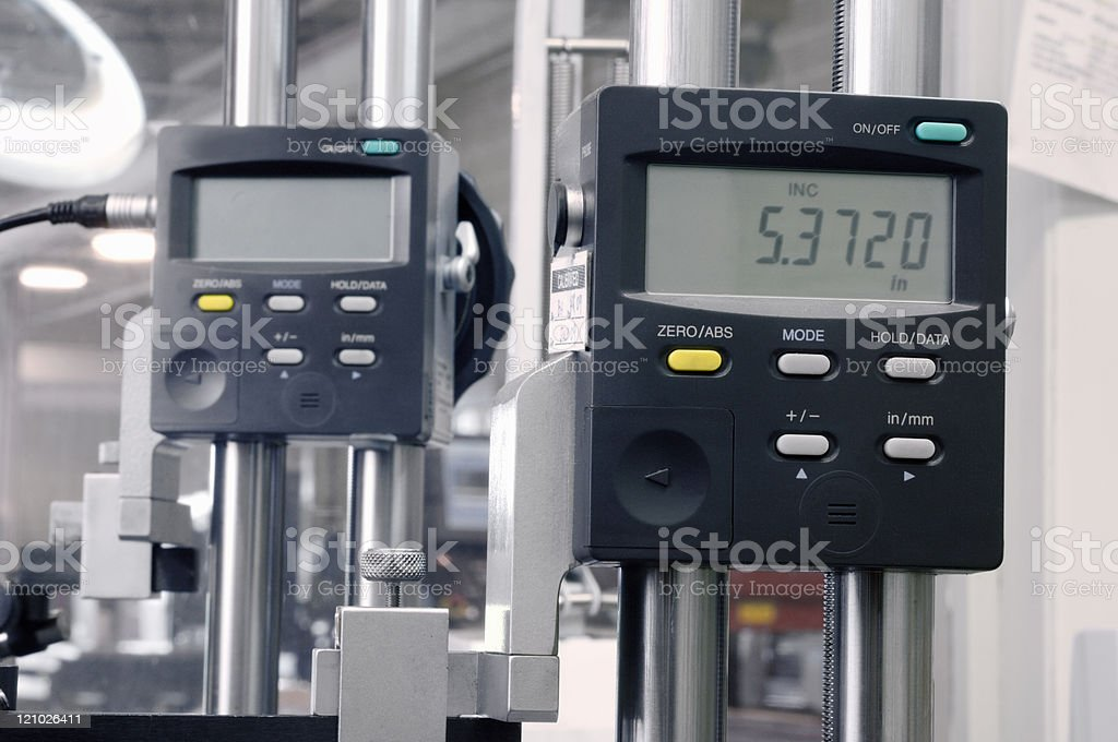 Quality control engineering gauges royalty-free stock photo