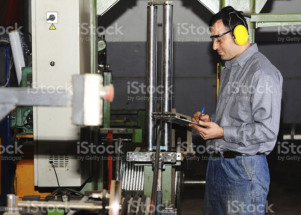 Quality control inspection stock photo