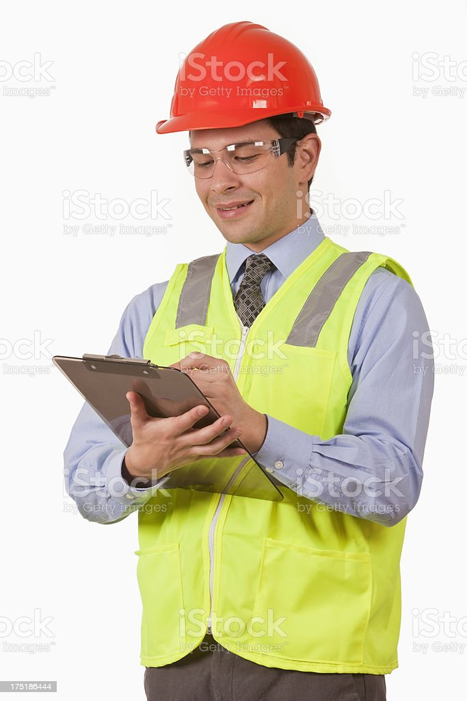 Quality Control Inspector royalty-free stock photo