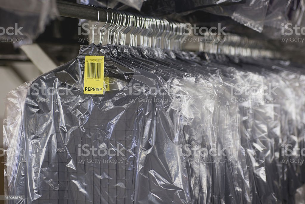 quality control   of   clothing in the sewing workshop royalty-free stock photo