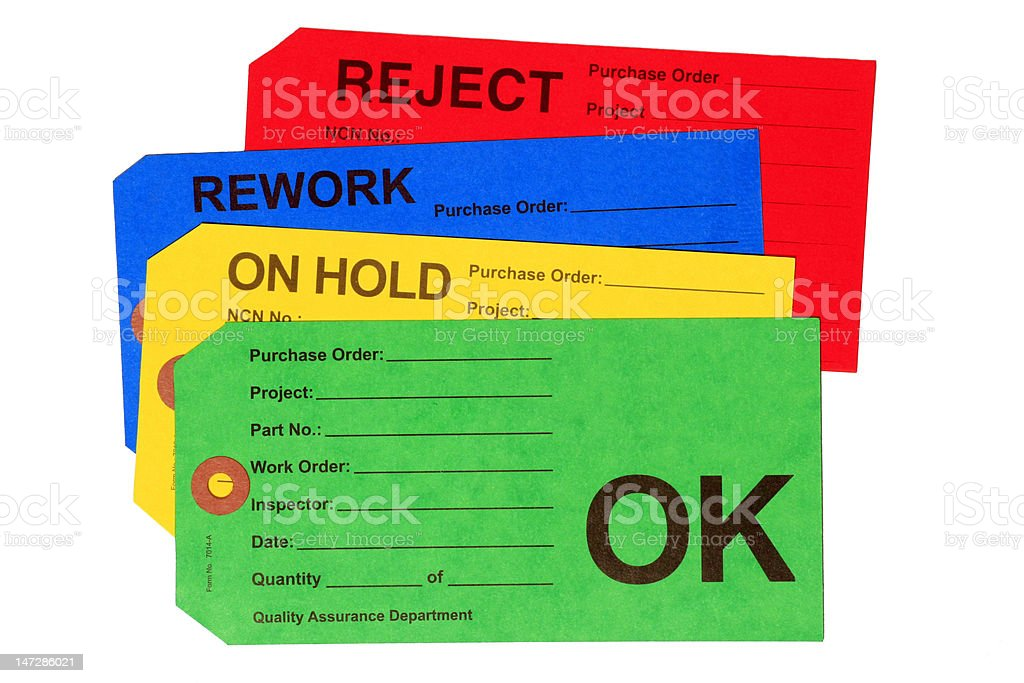 Quality Control Tags royalty-free stock photo