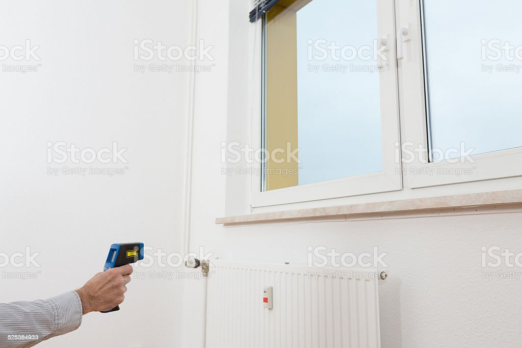 quality control thermal isolation with thermal imager stock photo