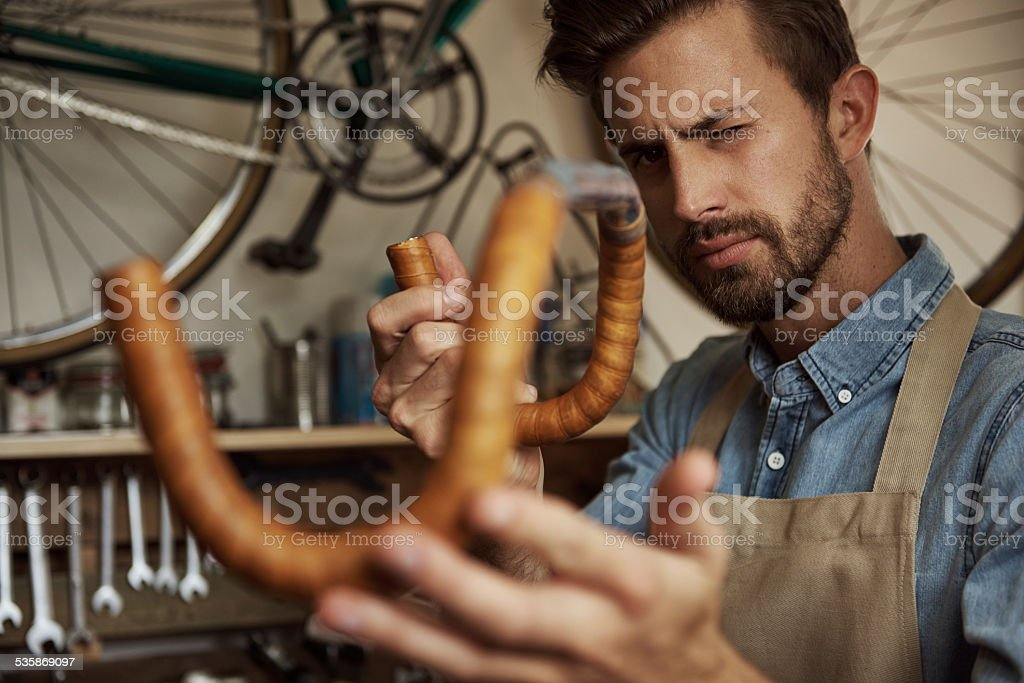 Quality craftsmanship is my guarantee stock photo