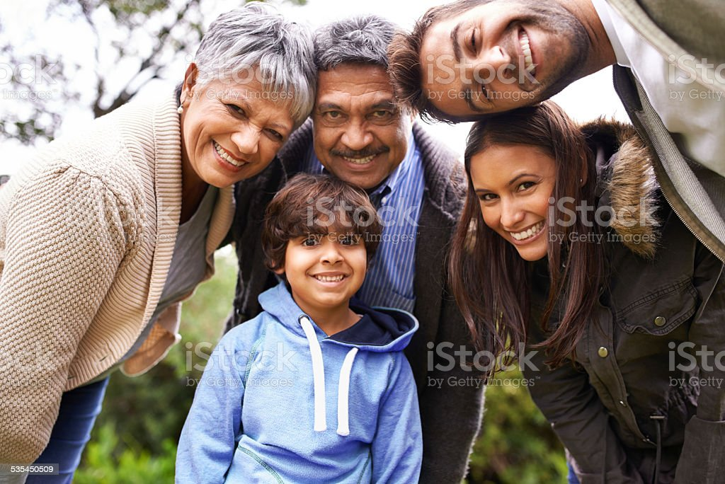 Quality family time stock photo