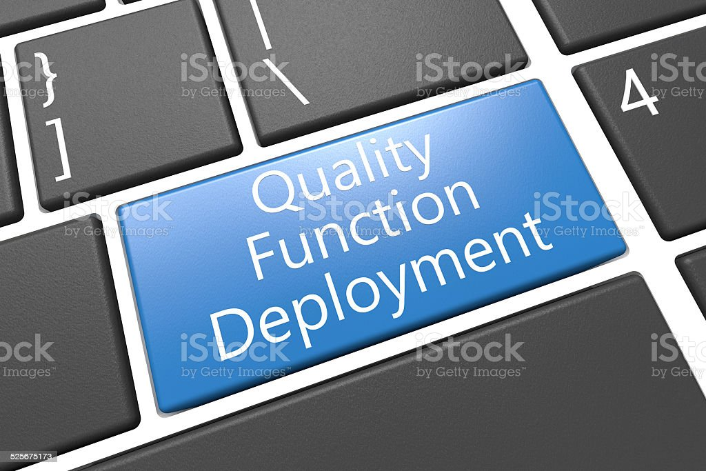 Quality Function Deployment stock photo