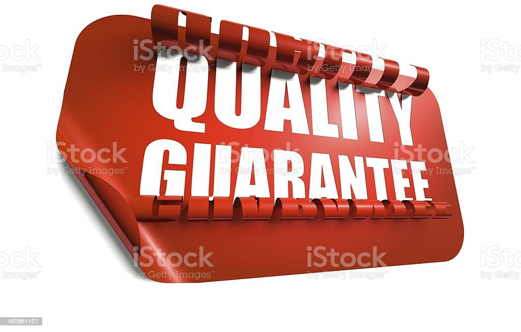 Quality guarantee concept, cut out in background royalty-free stock photo