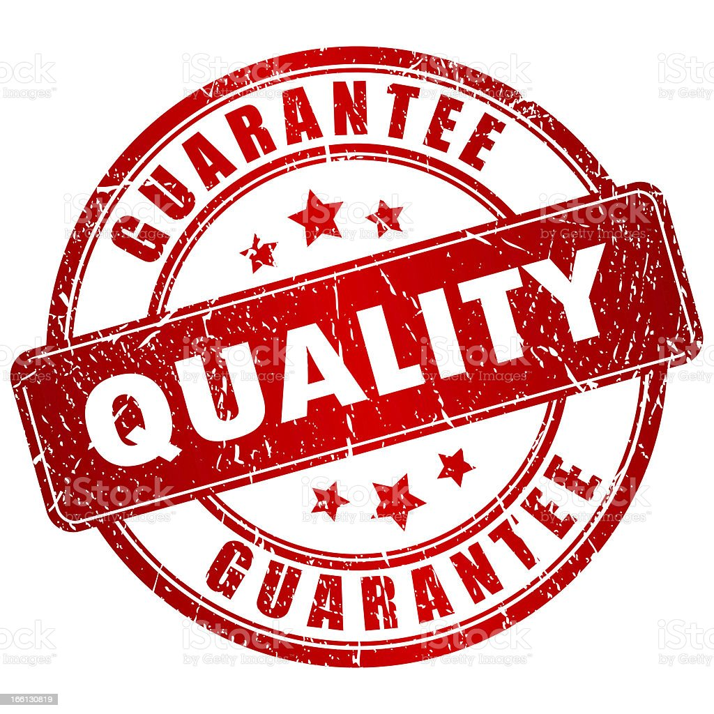 Quality guarantee royalty-free stock photo