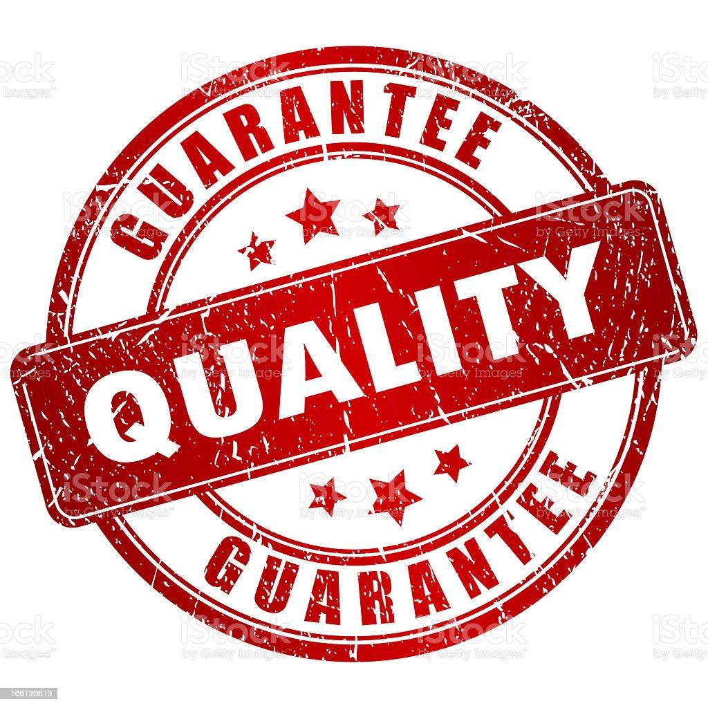 Quality guarantee stock photo