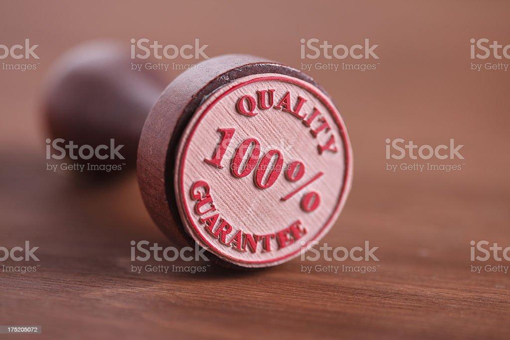 Quality Guarantee royalty-free stock photo