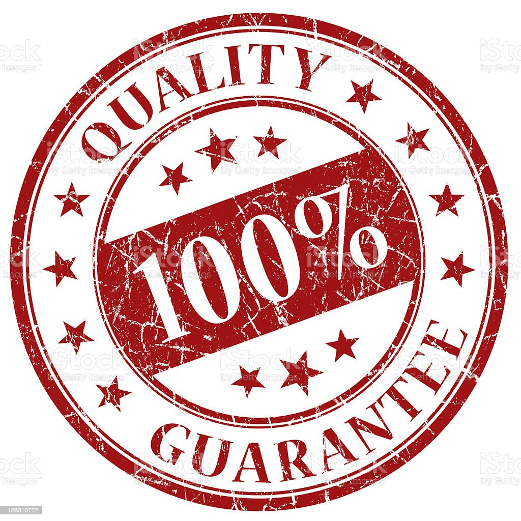 100% quality guarantee red stamp royalty-free stock photo