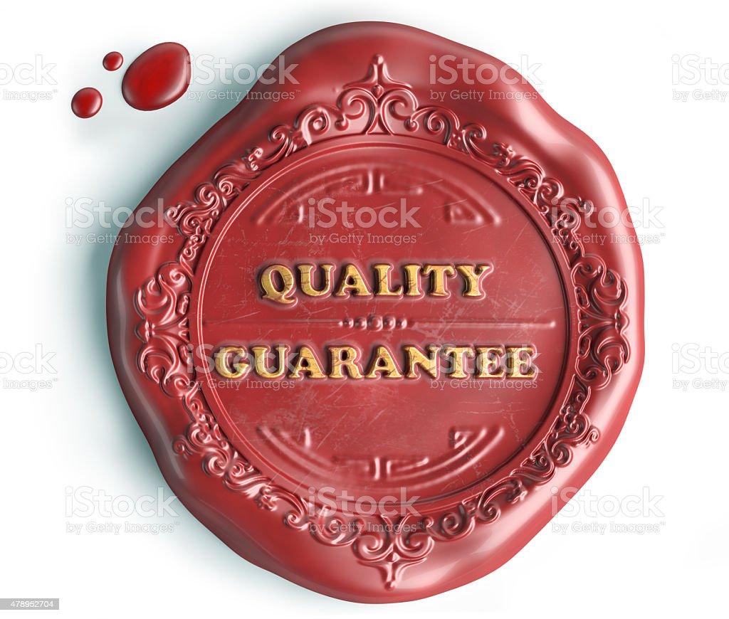 quality guarantee seal wax stock photo