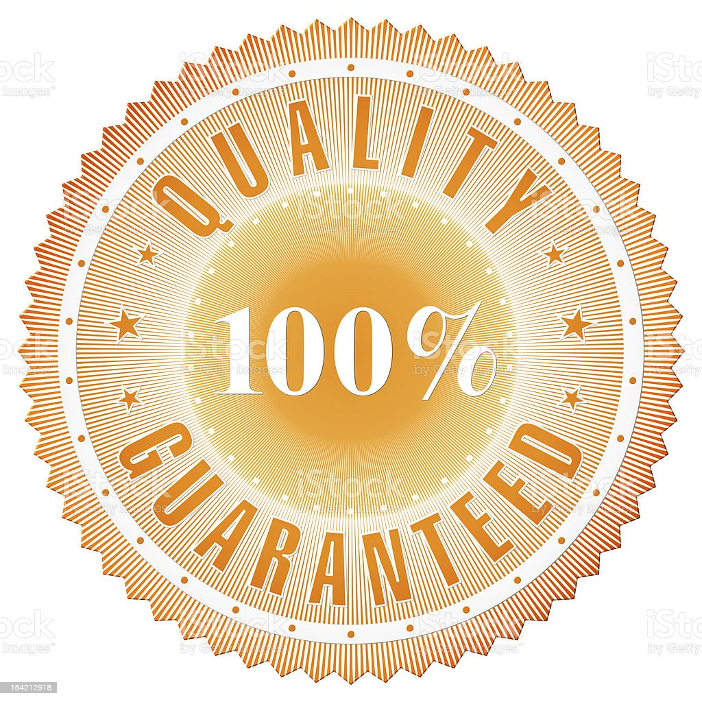 Quality Guaranteed Badge stock photo