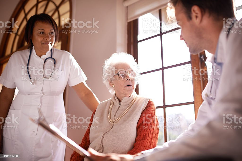 Quality healthcare for the elderly stock photo