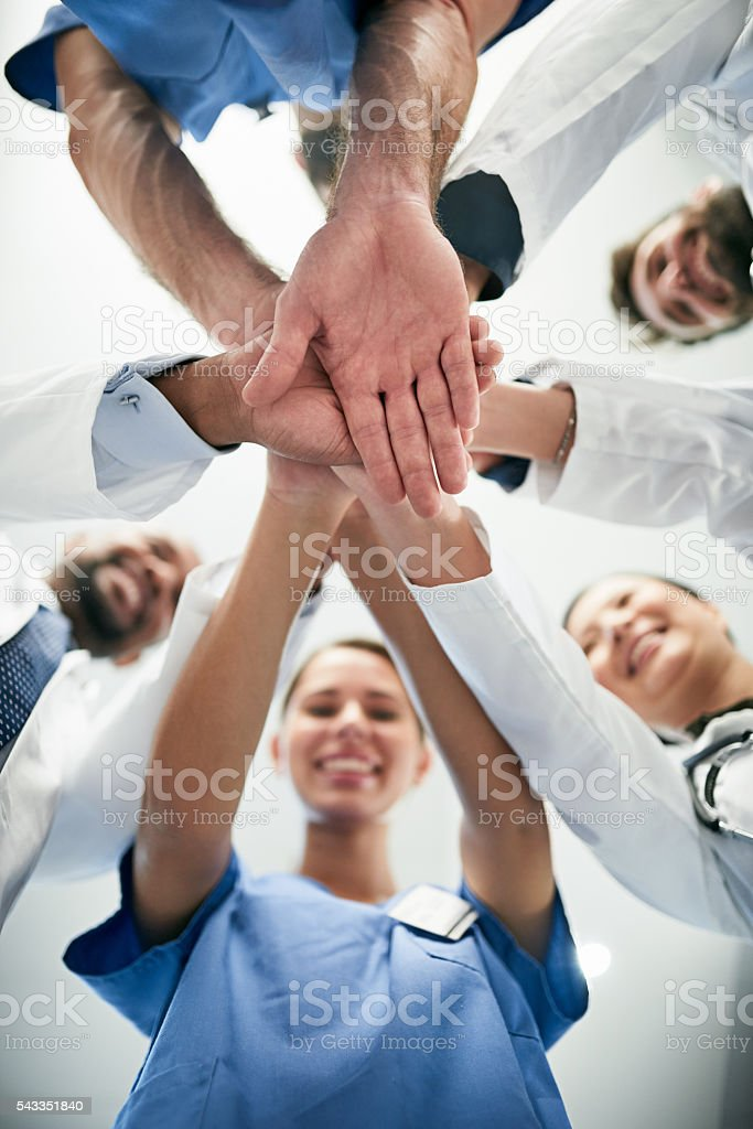 Quality healthcare for the win! stock photo