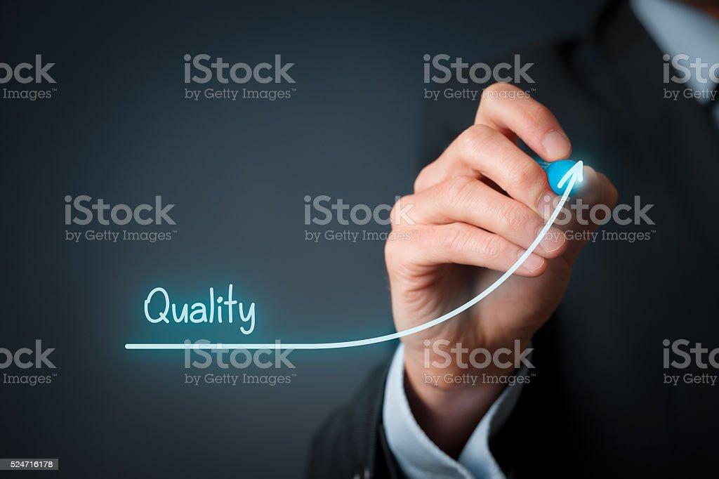 Quality improve stock photo