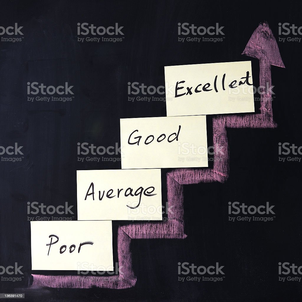 Quality improvement royalty-free stock photo