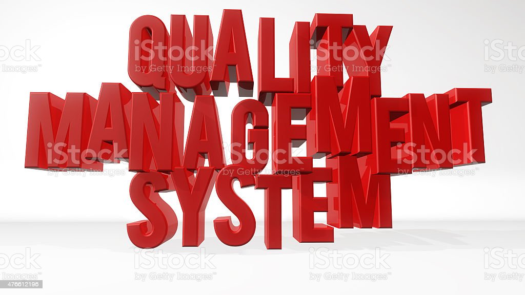 Quality management system stock photo