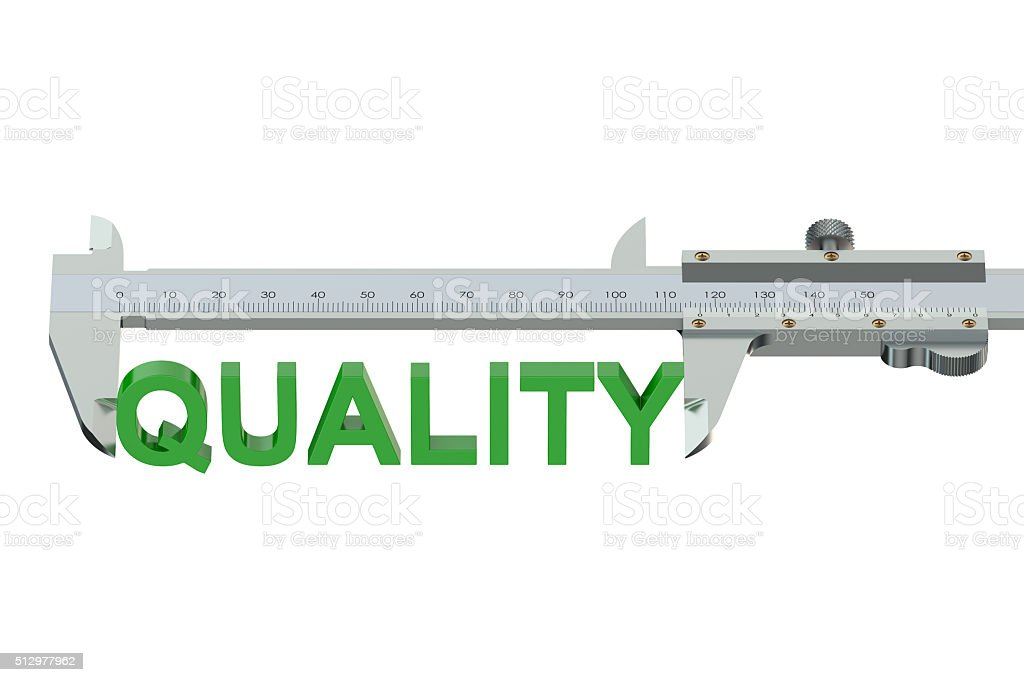 quality measuring concept stock photo
