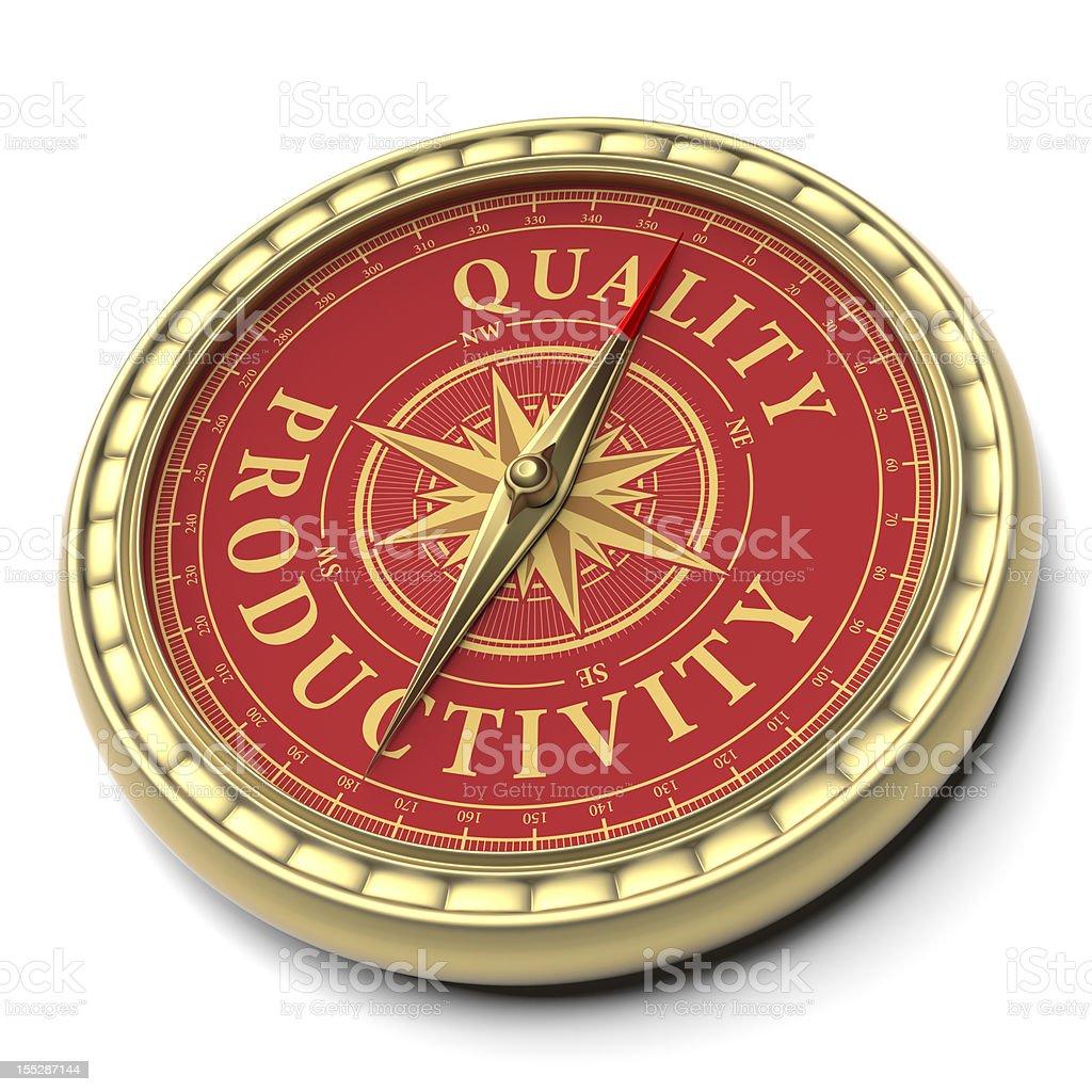Quality Productivity royalty-free stock photo