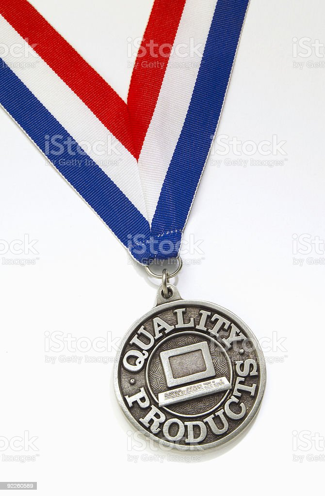 Quality Products medal royalty-free stock photo