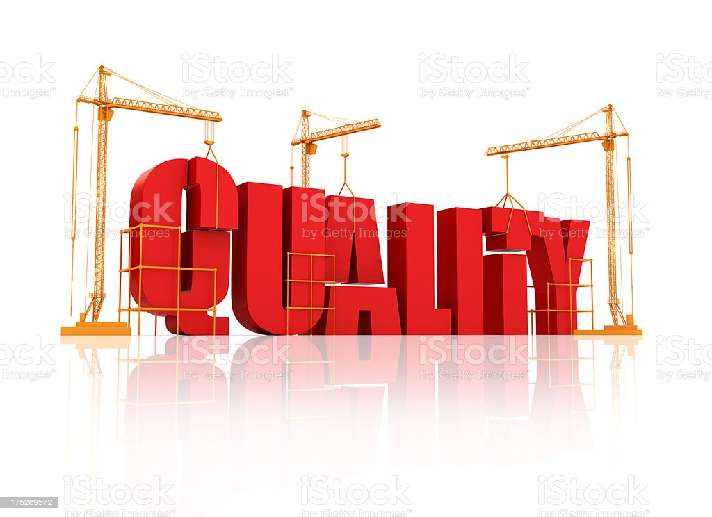 Quality succes or Building royalty-free stock photo