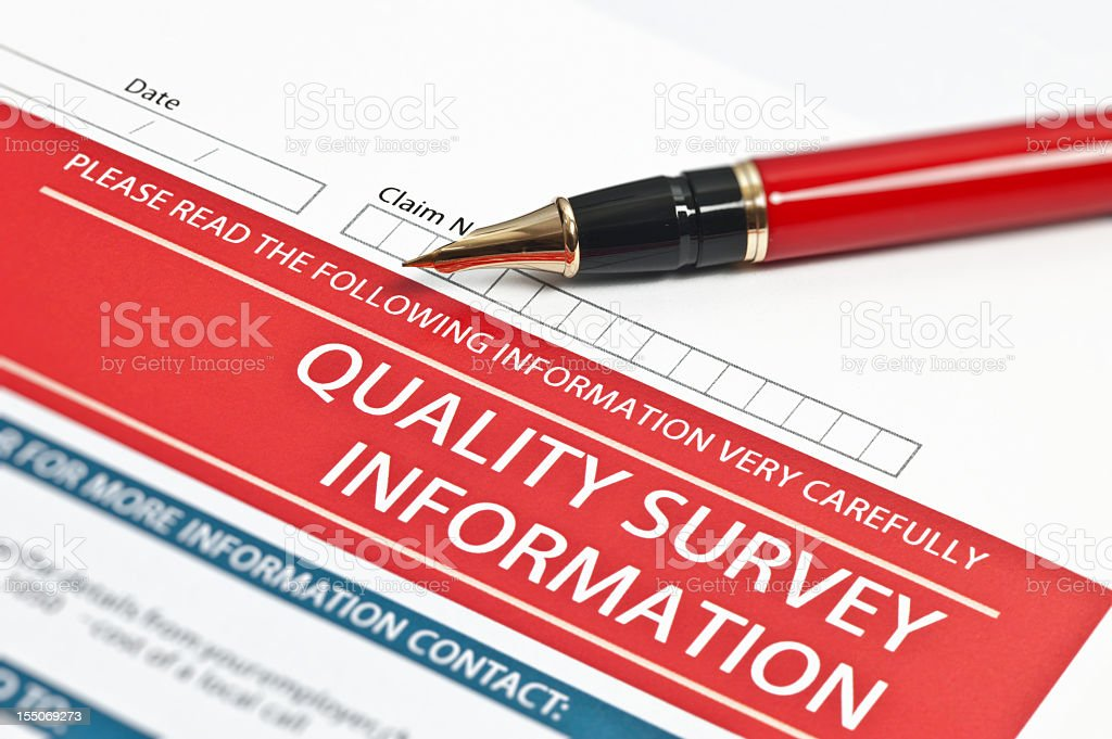 Quality Survey Information royalty-free stock photo