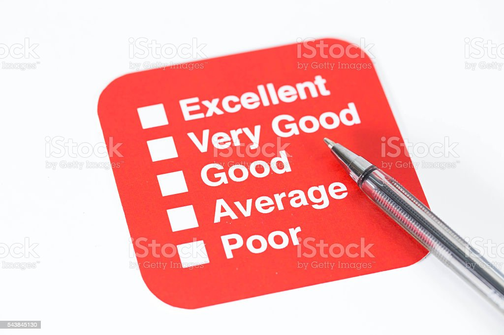 Quality Survey stock photo