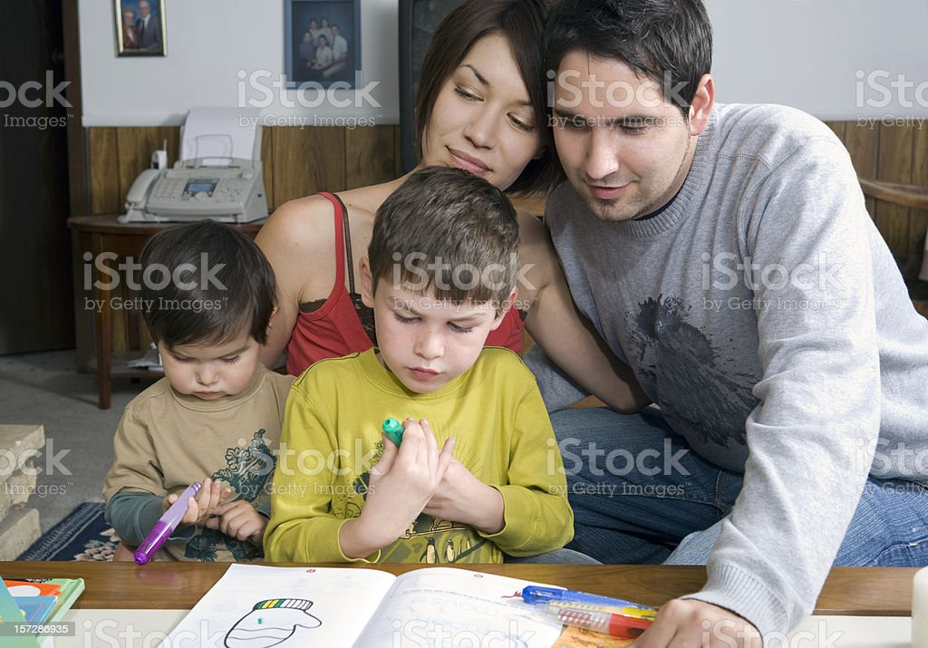 Quality Time with the Family royalty-free stock photo