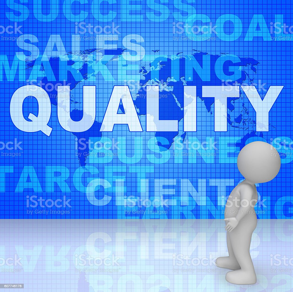 Quality Words Shows Guarantee Check And Approve 3d Rendering stock photo