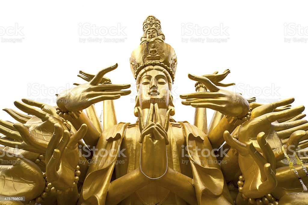 Quan Yin - Buddhist Goddess of mercy stock photo